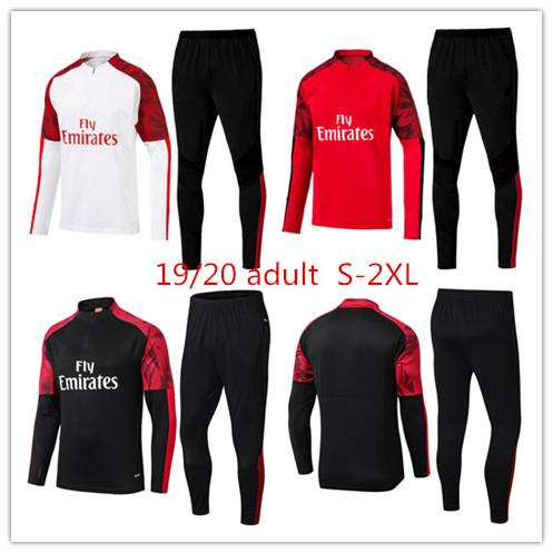 AC Milan yetişkin eşofman survetement ceket set 19 20 eğitim takım ÇALHANOĞLU uzun kollu futbol ceket spor eşofman