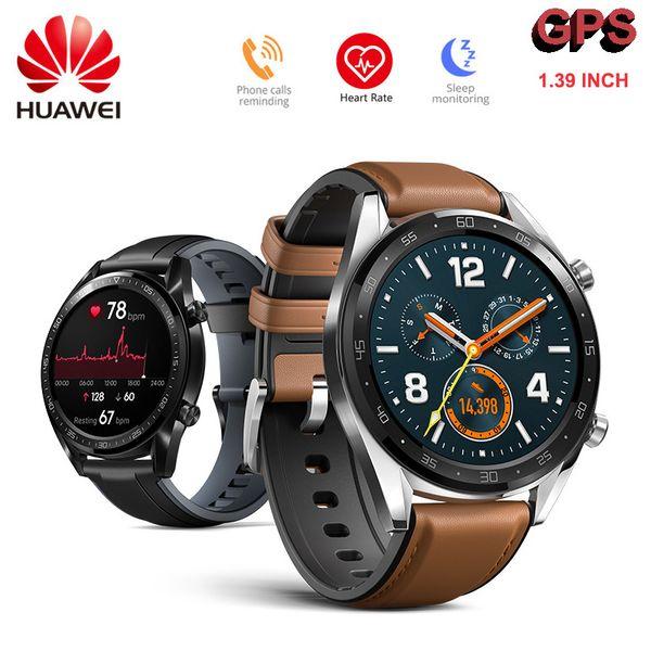 Huawei Watch GT Smart Watch GPS ГЛОНАСС NFC 14 дней автономной работы Водонепроницаемый AMOLED-экран Открытый Heart Rate Sport для Android