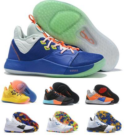 official photos 9079f 1b880 Mans Paul George PG 3 3s Basketball Shoes Sneakers 2019 New Volt Mens Nasa  Bhm Ep Playstation Fortnite Mamba Mentality Chaussure Sport Shoes Kd ...
