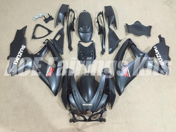 Nueva motocicleta ABS Kits de carenados de motocicletas aptos para Suzuki GSXR600 750 600 750 K8 2008 2009 2010 08 09 10 conjunto de carrocería personalizado carenado Mate negro