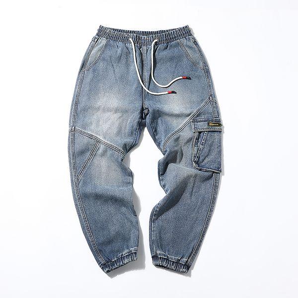 Весна лето мульти-карманные инструменты джинсы мужские прилив бренда плюс удобрения XL луч свободные толстяк брюки Харлан увеличение 5XL
