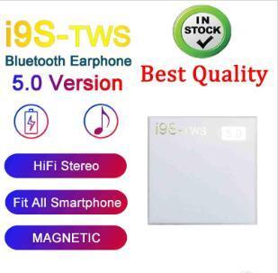 Kutu Kablosuz Bluetooth Kulaklık Şarj ile IOS Android Telefon için pop-up pencere Stereo TWS kulaklıklarla I9S tws 5.0 Kulaklık Kulaklık
