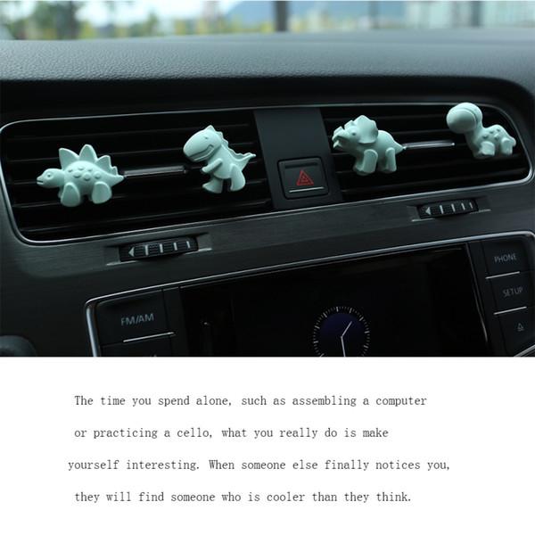 Araba kolye Alçı DinosaurFragrance Oto Dekorasyon Katı Oda Parfümü Otomobiller İç Dikiz Aynası Süsler