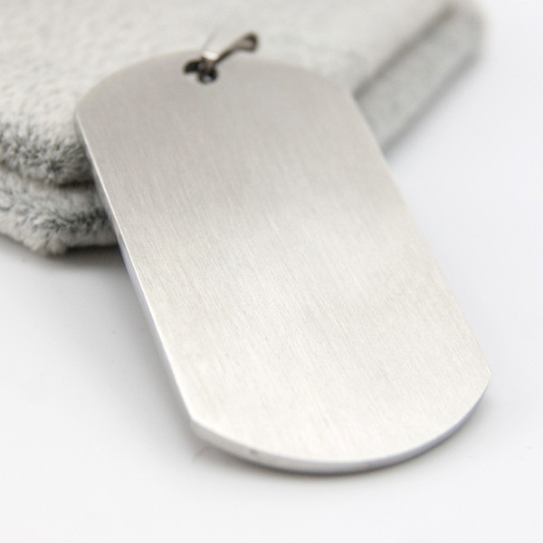 28x49mm Brushed Polish Blank ID Dog Tag Charm 1.1x1.9inch Stainless Steel Pendants for Men Wholesale 50pcs