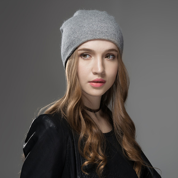 Mosnow Winter Hats For Women 2018 New Solid Wool Asymmetrical Knitted Vogue Brand Casual Warm Hat Female Skullies Beanies Bonnet S18120302