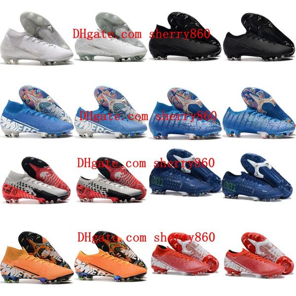 2019 en kaliteli futbol ayakkabıları Mercurial Buharı XIII Elite FG futbol krampon açık futbol ayakkabıları Mercurial Superfly VII 360 Elite FG mens