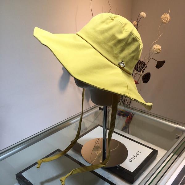 Cappello di design cappello a gronda piccola cappello estivo estivo necessario cappello parasole tessuto Oxford puro cotone all'interno accessorio moda