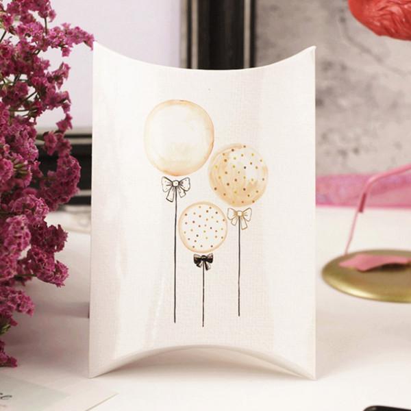 Scatole regalo di caramelle Carta di cuscini di forma di cigno Caramelle ospiti Scatole di imballaggio Buon Natale Bomboniere per feste Bomboniere per bambini