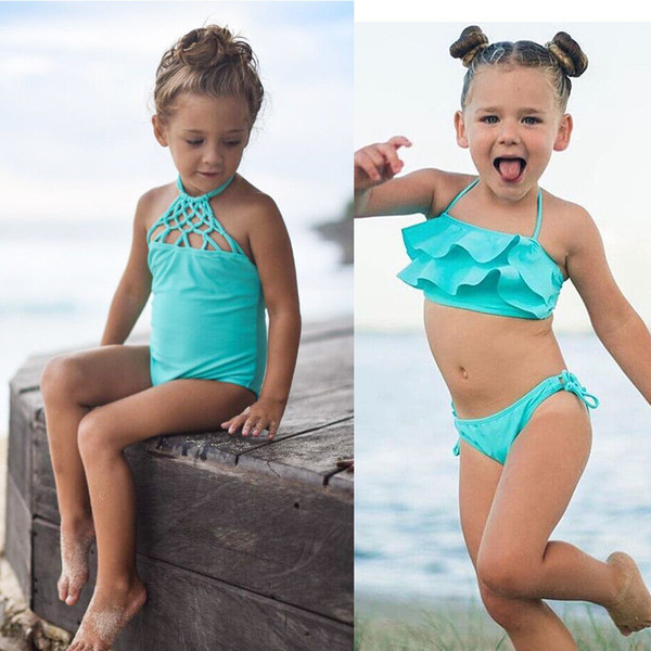 Pudcoco Swimsuit Set 2Y-7Y Toddler Kids Baby Girls Tankini Bikini Swimwear Swimsuit Bathing Suit Beachwear