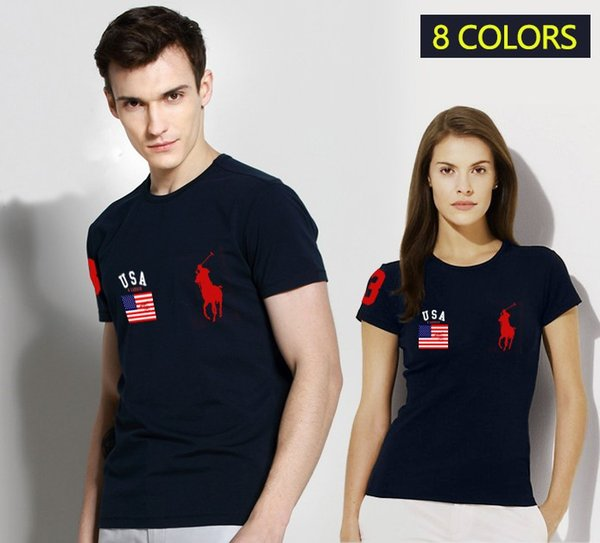 Sale 2019 New Polo Shirt Men Womens High Quality LOGO Big Horse Short Sleeve Summer Casual Cotton Polo Shirts Mens