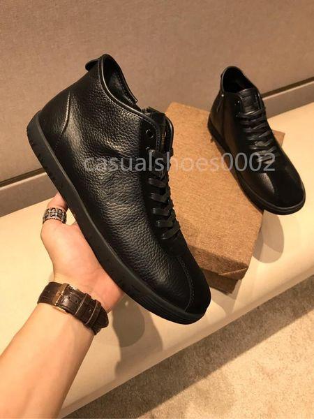 2019 Новые мужские повседневные высокие топы роскошные модные дизайнерские туфли дизайнерские туфли высшего качества кожа черный бархатные дизайнерские туфли размер 38-44 L08