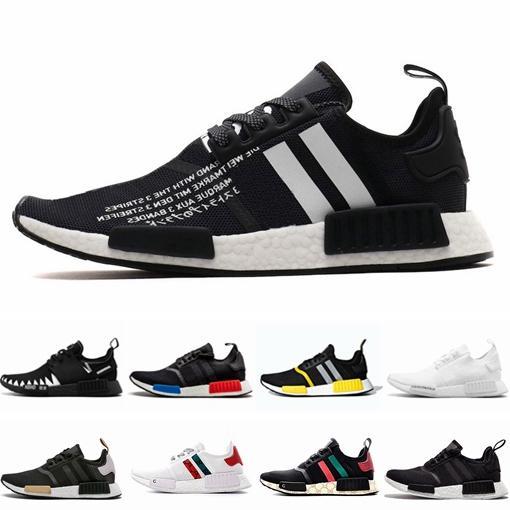 2019 R1 Runner atmos Bred Running Shoes Nbhd Primeknit Tri-Color OG Classic Men Women Japan Triple Black white Red Marble Sports Sneakers