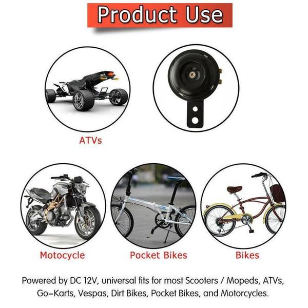 12V Quality Waterproof Loud 105dB Universal Motorcycle Car Electric Bike Horn US