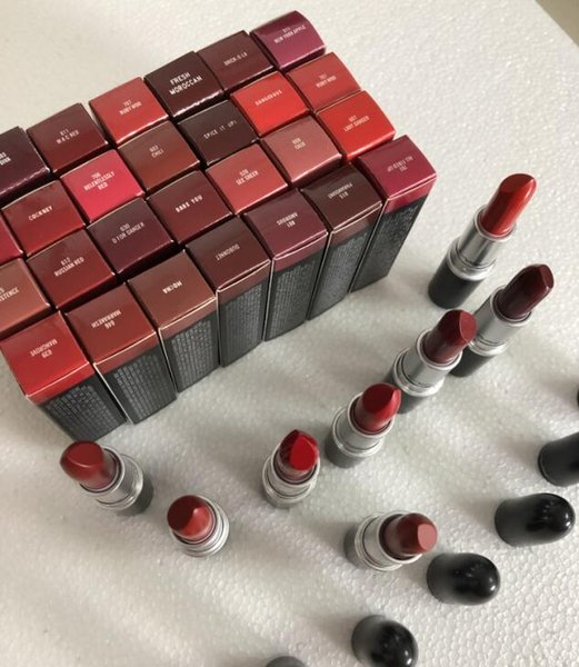 best selling 2019 Brand M@C High Quality Aluminum Tube Rouge Matte Lipstick A levres 13 Colors Lustre Lipsticks with Series Numbers New Package DHL