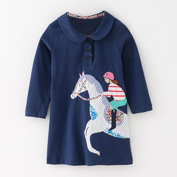 KIDS boutique Solid dress costume for baby blouse fashion t-shirt kids tops dresses for girls pattern toddler costume Mix SIZE 2019 Fall