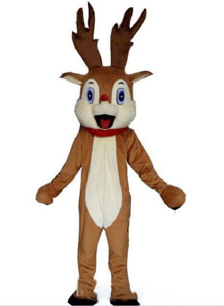 2019 fabbrica nuova naso rosso renne costume della mascotte per adulti