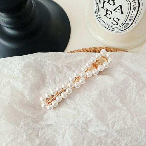 2019 nouvelle coréenne sweet ins fleur perle cheveux clip bang clip BB clip super fée web célébrité cheveux décoration
