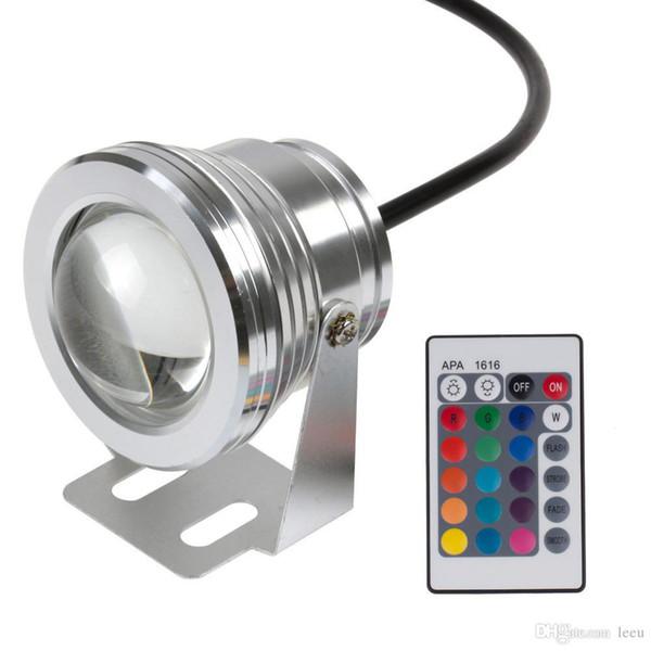 Führte Unterwasserlicht RGB 10W 12V führte Unterwasserlicht 16 Farben 1000LM wasserdichte IP68 Brunnen-Pool-Lampen-Beleuchtung