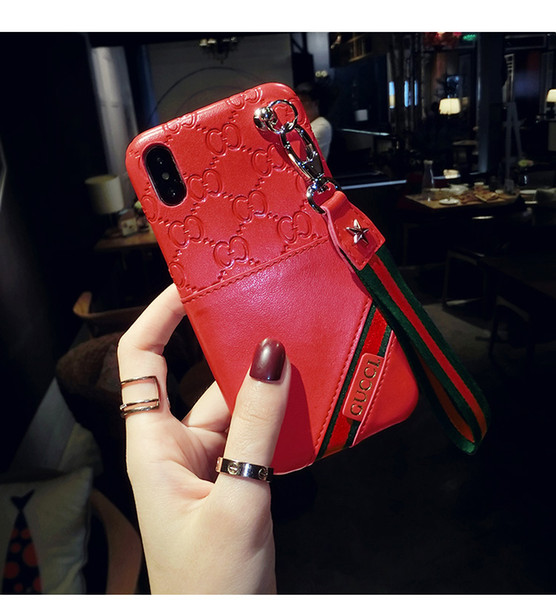 Fashion Designer Colorful Leather Flip Cover For iPhone X XS Max XR Luxury Wallet Credit Card Case for iphone 8 7 7plus 6 6S Plus Cases
