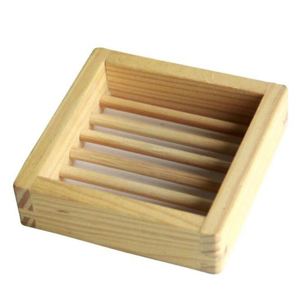Vaisselle de savon en bois naturel Plateau Porte-savon Plaque de stockage Rack Container Box Savon Salle de bains Portable plat Boîte de rangement ZC1566