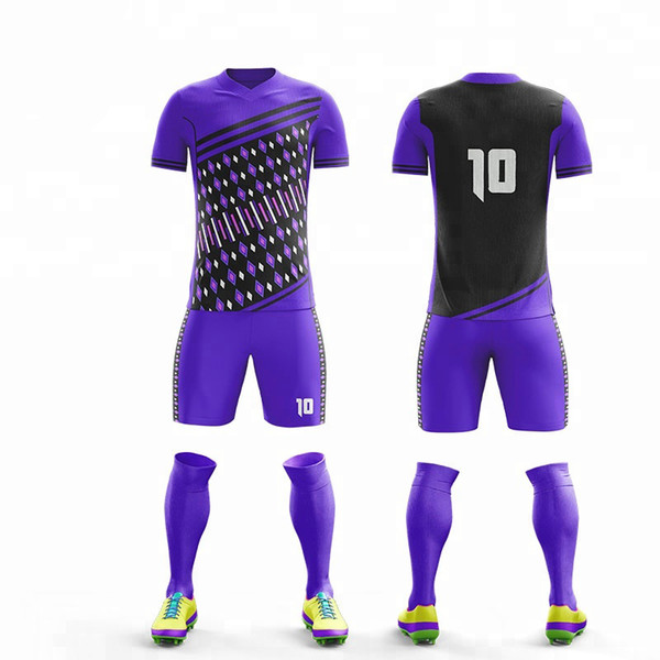 2019 Erwachsene Kinder Fußball Jersey Set Fußball Kit Männer kind Futbol Blank Training Uniformen set De Foot shorts DIY jersey