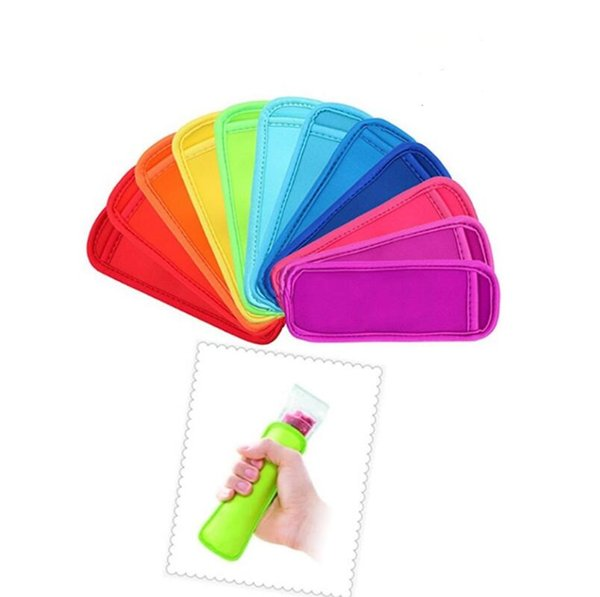 best selling low prices high quality Popsicle Holders Pop Ice Sleeves Freezer Pop Holders 8x16cm DHL Fedex UPS SF Fast Shipping LX4233