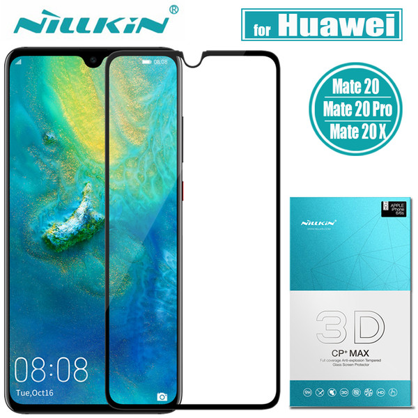 Nilkin for Huawei Mate 20 Pro Tempered Glass Nillkin 3D CP+MAX Full Cover Clear Glass Screen Protector Film for Huawei Mate 20 X