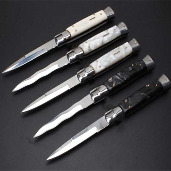 OEM mafia 11 pollici acrilico 5 modelli singola azione ITA coltello auto coltello coltelli da campeggio regalo per uomo 1 pz freeshipping
