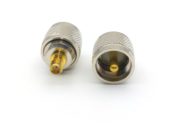 top popular 20pcs copper PL259 UHF plug male TO SMA female RF adapter CONNECTOR 2021