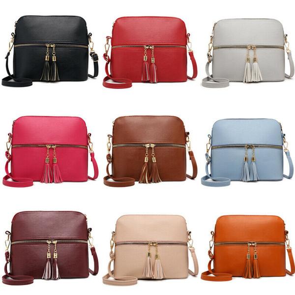 Мода повседневная твердые женщины сумочка кожаный ранец сумка Бесплатная доставка тотализатор дамы Посланник Crossbody кошелек