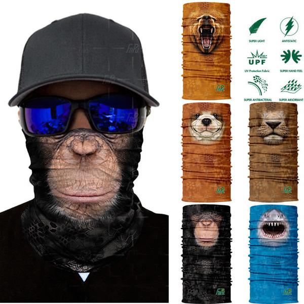 3D Animal Ski Cycling Snowboard Scarf Neck Warmer Face Mask Balaclava Bandana Bike Mask Free Shipping