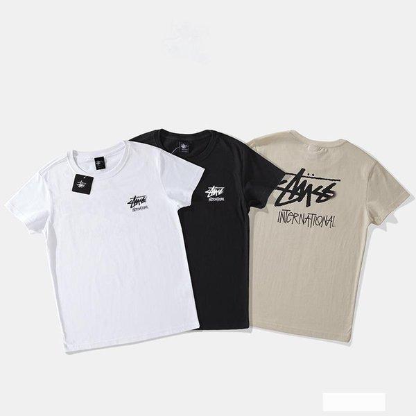 19SS Herren T-Shirt American Tide brandneue T-Shirts einfache Buchstaben paar Baumwolle T-Shirt Hip-Hop lässig wild T-Shirts Luxus Designer Womens T-Shirt