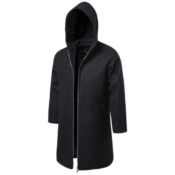 2019 Autumn & Winter New Products Mid-length Trench Coat Fashion Casual Solid Color Woolen Overcoat MEN'S Coat Yf11