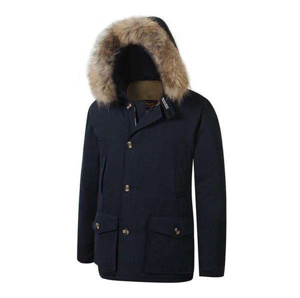 2019 Brand New Mens Men S Arctic Down Parka With Big Removeable Raccoon Fur Warm Jacket Winter Coat