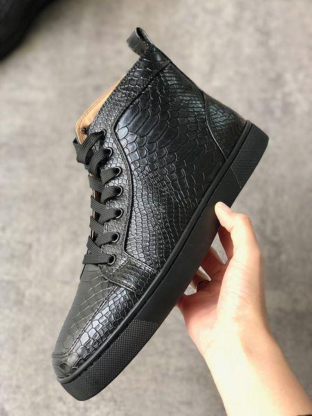 2019Luxury дизайнерская обувь высокого верха Шипы кроссовки Красное дно из натуральной кожи кроссовки мужчины баскетбол тренеры мода Повседневная обувь SZ US 13