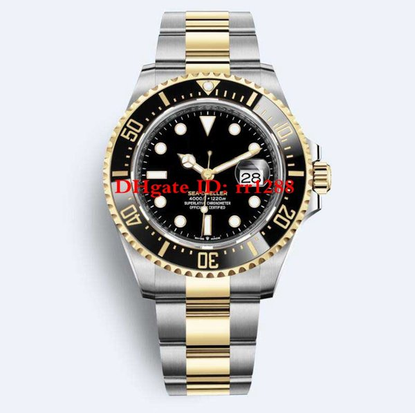 2019 Yeni Model İzle 126603 43mm Deniz Dweller Derin 4000 seramik Bezel 18 k Altın Çelik Otomatik Mens Watch Saatler 126600 Saatı
