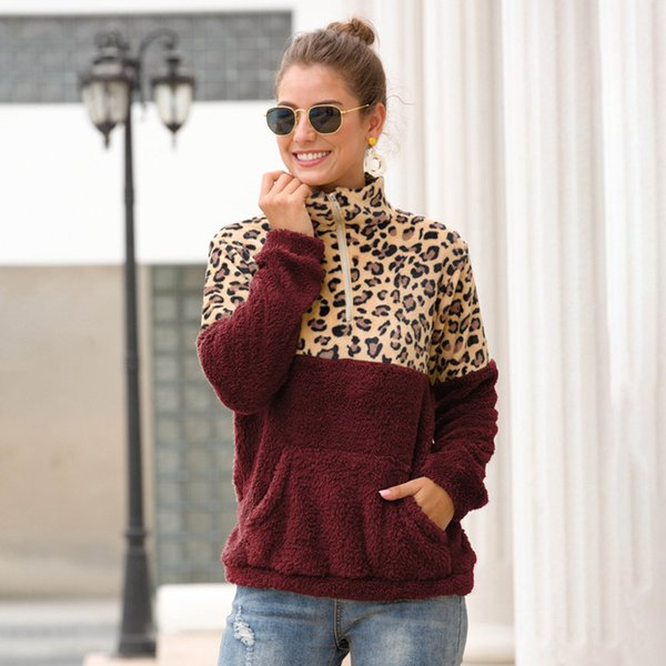 wine red + brown leopard