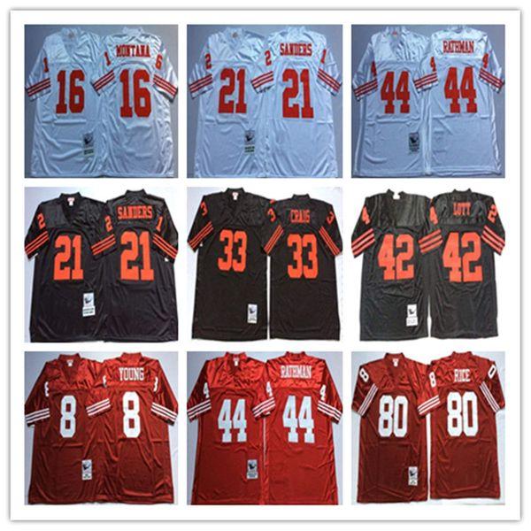 premium selection 5ebcd bda3e 2019 NCAA 8 Steve Young 16 Joe Montana 42 Ronnie Lott 21 Deion Sanders 33  Roger Craig 44 Tom Rathman 87 Dwight Clark Embroidery Jersey From C123321,  ...