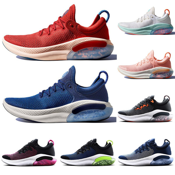2019 Free Joyride Run Fly Mens Running Shoes Triple Black Mesh Kint Blue Volt White Sail University Red Designer Sneakers Sports Trainers