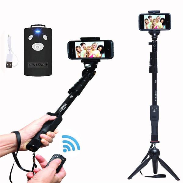 Yunteng 1288 sem fio bluetooth extensível handheld selfie monopé com zoom para iphone samsung selfie varas boa qualidade