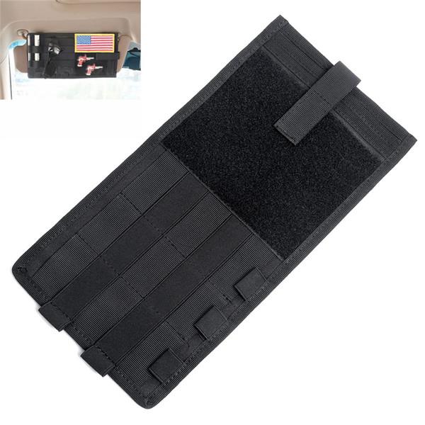 Tactical Car Accessories Visor Card Storage Sun Visor Organizer Bag Card Storage Glasses Holder Clip Visor Storage Holder