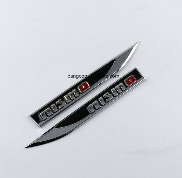 Pair Black Metal AMG Logo Car Body Emblem Blade Badge Side Fender Sticker Decal