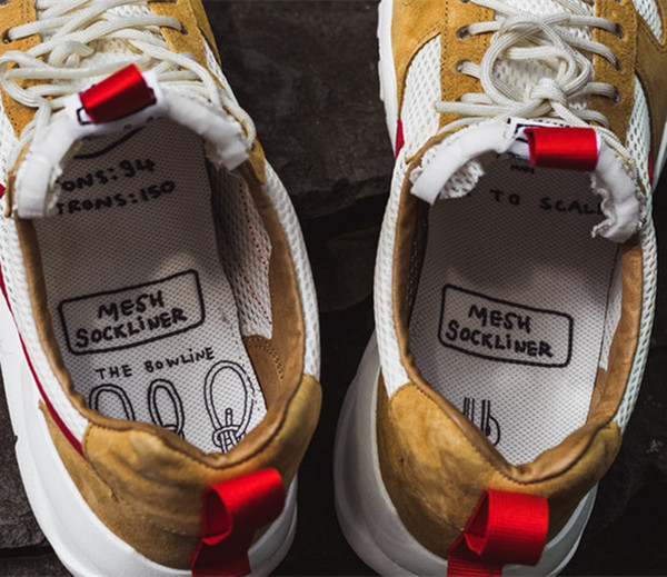 New Released Tom Sachs Craft Mars Yard TS NASA 2.0 Shoes AA2261-100 Natural Sport Red-Maple Unisex Causal Shoes Size 36-45