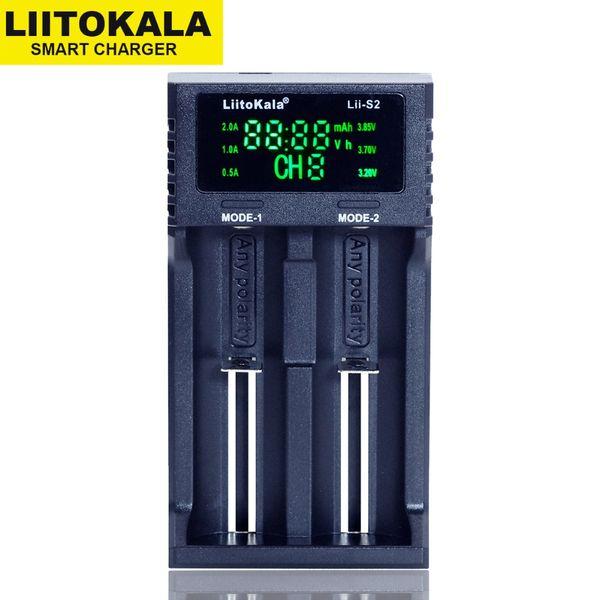 best selling S1 S2 S4 LCD 3.7V 18650 18350 18500 21700 20700B 20700 10440 14500 26650 1.2V NiMH lithium-battery Charger