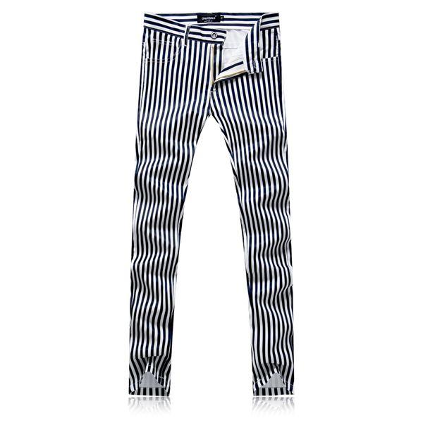 High Quality White men Striped Pants Size 29 30 31 32 33 34 36 38 Fashion Casual mens Trousers Slim fit men dress pant