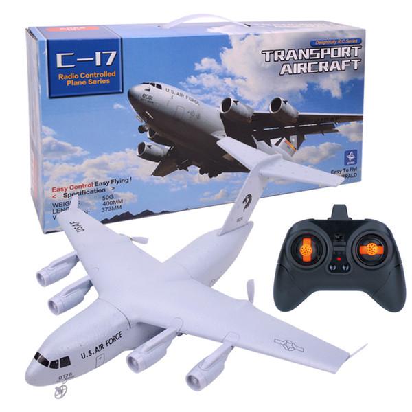 Rc Modelo EE. UU. Fuerza Aérea C17 Transporte Aviones Planeador Espuma Resistente Rc Avión RTF Mejores Niños Niños Rc Juguete Regalo Envío de la gota