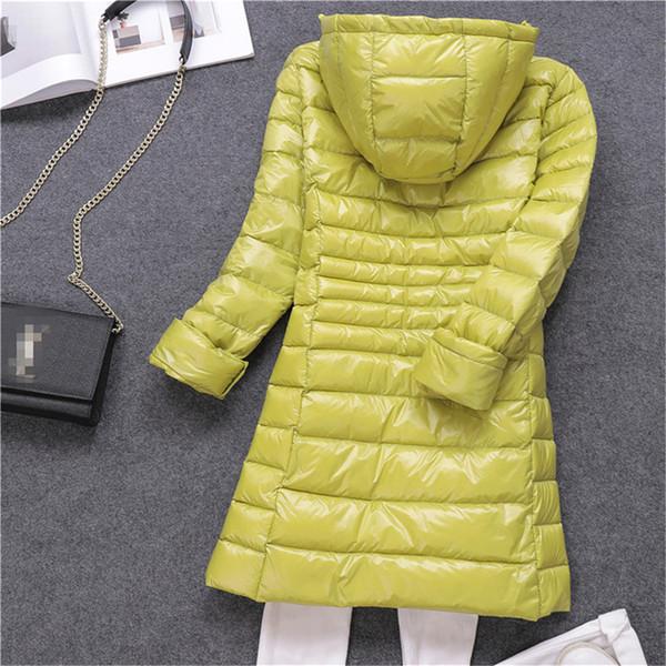 New Winter Slim Women White Duck Down Jacket Big Size S-7XL Down Jacket Lady Midi Long Coat Hooded Coats Female Jackets 549