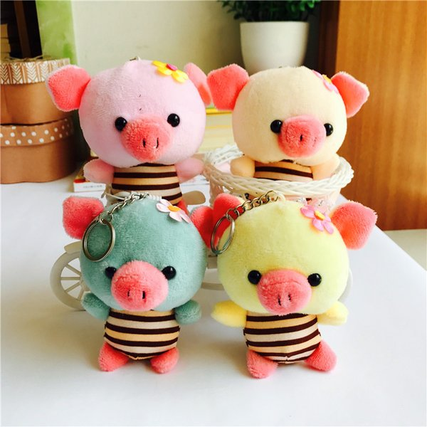 1pcs Cute Pig Keychain Wallet Keychain Car Plush Key Keychains Key Ring Holder Pendant for Bag Backpack Gifts for Women Girl