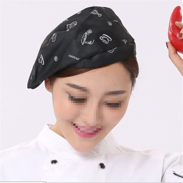2019 Men Women Chef Hat Cafe Bar Waiter Beret Restaurant Hotel Workwear Kitchen Cook Baking Cap Beret Hat Cotton Blend From Naixing 33 48
