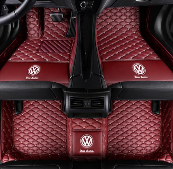 Uygulanabilir Alman Volkswagen Tiguan 2009-2018 araba mat ön ve arka ped aksesuarları kaymaz su geçirmez araba mat